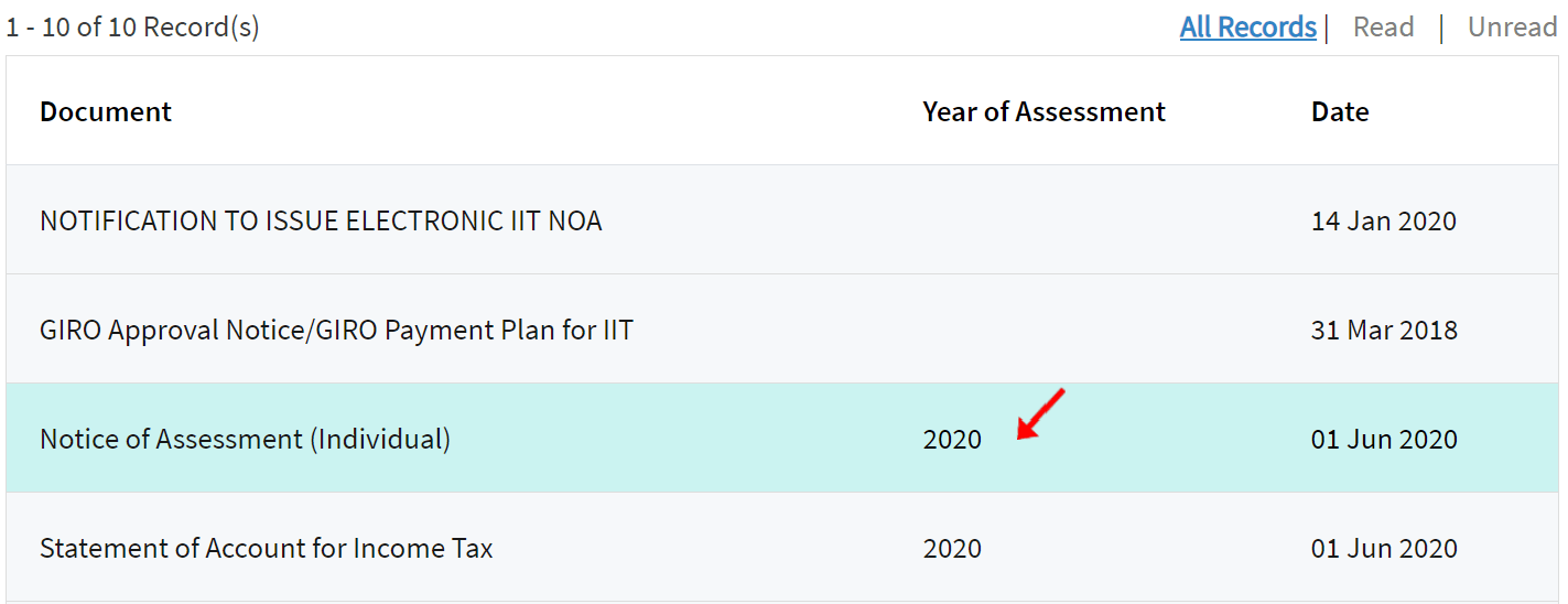 Obtaining Notice of Assessment (Individual) 2020