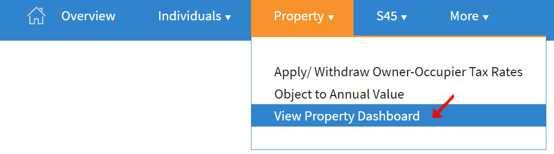 View Property Dashboard on IRAS website